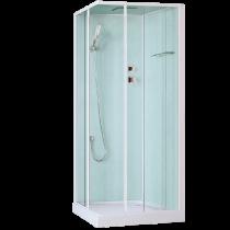 Cabine de douche Teva 90x90cm Blanc - OZE Réf. TEVA90BTSH