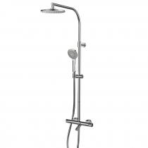 Colonne bain-douche thermostatique Tender télescopique Chromé - GRB Réf. 40433400TL