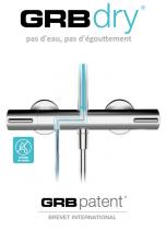 Colonne de douche thermostatique Chromé - GRB Réf. 44435440