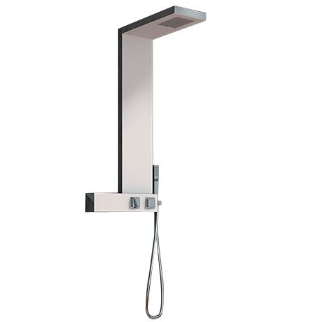 Colonne thermostatique aquadesign blanc kinedo r f cd321 - Colonne de douche blanche design ...