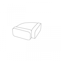 Coude rectangulaire horizontal 220x90 - FALMEC Réf. 115983