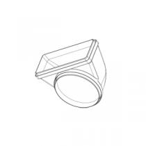 Coude rond Ø150 / rectangulaire 220x90 réversible - FALMEC Réf. 116001