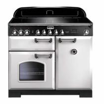 Cuisinière 100cm Falcon Classic Deluxe Blanc Chromé CDL100EIWH/C-EU 3 fours électriques / 5 foyers induction