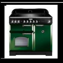 Cuisinière 100cm Falcon Classic Deluxe Vert anglais Chromé CDL100EIRG/C-EU 3 fours électriques / 5 foyers induction