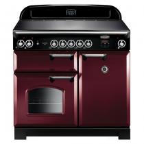 Cuisinière 100cm Falcon New Classic Rouge airelle Chromé CLA100EICY/C-EU 3 fours électriques / 5 foyers induction