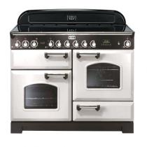 Cuisinière 110cm Falcon Classic Deluxe Blanc Chromé CDL110ECWH/C-EU 3 fours électriques / 6 foyers vitrocéramiques