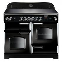 Cuisinière 110cm Falcon New Classic Noir Chromé CLA110ECBL/C-EU 3 fours électriques / 6 foyers vitrocéramique