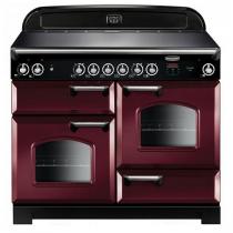 Cuisinière 110cm Falcon New Classic Rouge airelle Chromé CLA110ECCY/C-EU 3 fours électriques / 6 foyers vitrocéramique