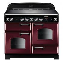 Cuisinière 110cm Falcon New Classic Rouge airelle Chromé CLA110EICY/C-EU 3 fours électriques / 5 foyers induction
