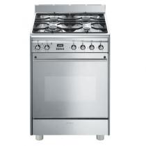 Cuisinière 60cm Four multifonction pyrolyse 79l / 7 brûleurs gaz Inox - SMEG Réf. GP61X9
