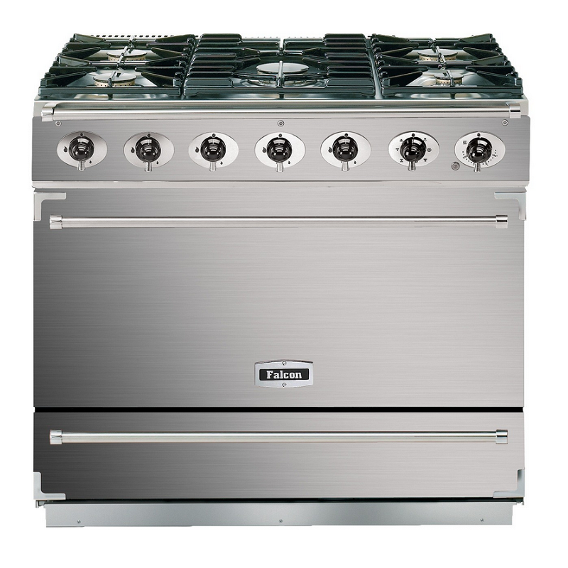 Cuisinière 90cm Falcon 900S Deluxe Inox grilles mates F900SDFSS/CG ...