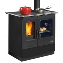 Cuisinière à bois Armonnie 6.5Kw émaillée Noir - GODIN Réf. 241100