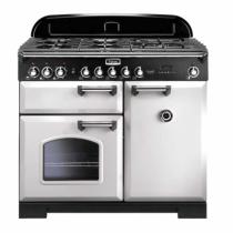 Cuisinière mixte 100cm Falcon Classic Deluxe Blanc Chromé CDL100DFCY/C-EU 3 fours électriques / 5 foyers gaz