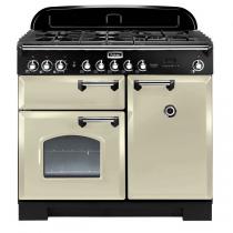 Cuisinière mixte 100cm Falcon Classic Deluxe Crème Chromé CDL100DFCR/C-EU 3 fours électriques / 5 foyers gaz