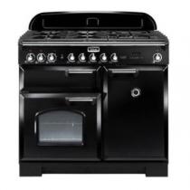 Cuisinière mixte 100cm Falcon Classic Deluxe Noir Chromé CDL100DFBL/C-EU 3 fours électriques / 5 foyers gaz