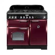 Cuisinière mixte 100cm Falcon Classic Deluxe Rouge Airelle Chromé CDL100DFCY/C-EU 3 fours électriques / 5 foyers gaz
