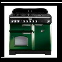 Cuisinière mixte 100cm Falcon Classic Deluxe Vert Anglais Chromé CDL100DFRG/C-EU 3 fours électriques / 5 foyers gaz