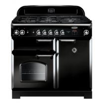 Cuisinière mixte 100cm Falcon New Classic Noir Chromé CLA100DFBL/C-EU 3 fours électriques / 5 foyers gaz