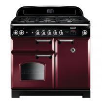 Cuisinière mixte 100cm Falcon New Classic Rouge Airelle Chromé CLA100DFCY/C-EU 3 fours électriques / 5 foyers gaz