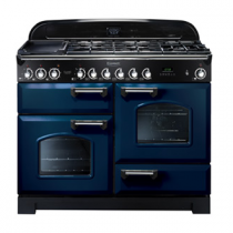 Cuisinière mixte 110cm Falcon Classic Deluxe Bleu Roi Chromé CDL110DFRB/C-EU 3 fours / 5 foyers gaz + 2 vitrocéramiques