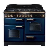 Cuisinière mixte 110cm Falcon Classic Deluxe Bleu Roi Laiton CDL110DFRB/B-EU 3 fours / 5 foyers gaz + 2 vitrocéramiques