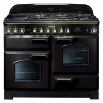 Cuisinière mixte 110cm Falcon Classic Deluxe Noir Laiton CDL110DFBL/B-EU 3 fours / 5 foyers gaz + 2 vitrocéramiques