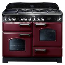 Cuisinière mixte 110cm Falcon Classic Deluxe Rouge Airelle Chromé CDL110DFCY/C-EU 3 fours / 5 foyers gaz + 2 vitrocéramiques