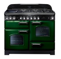 Cuisinière mixte 110cm Falcon Classic Deluxe Vert Anglais Chromé CDL110DFRG/C-EU 3 fours / 5 foyers gaz + 2 vitrocéramiques