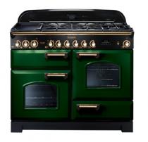 Cuisinière mixte 110cm Falcon Classic Deluxe Vert Anglais Laiton CDL110DFRG/B-EU 3 fours / 5 foyers gaz + 2 vitrocéramiques