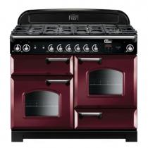 Cuisinière mixte 110cm Falcon New Classic Rouge Airelle Chromé CLA110DFCY/C-EU 3 fours électriques / 6 foyers gaz