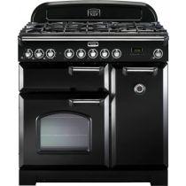 Cuisinière mixte 90cm Falcon Classic Deluxe Noir Chromé CDL90DFBL/C-EU 3 fours électriques / 5 foyers gaz