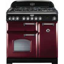 Cuisinière mixte 90cm Falcon Classic Deluxe Rouge Airelle Chromé CDL90DFCY/C-EU 3 fours électriques / 5 foyers gaz