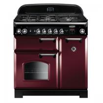 Cuisinière mixte 90cm Falcon New Classic Rouge Airelle Chromé CLA90DFCY/C-EU 3 fours électriques / 5 foyers gaz