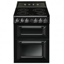 Cuisinière Victoria 60cm 1 four électrique 61l + 1 four électrique 35l / 4 foyers induction Noir - SMEG ELITE Réf. TR62IBL