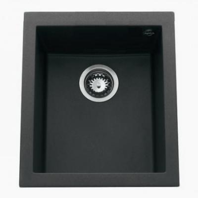 cuve sous plan quadrille 38x44 luisigranit noirmetal luisina r f evsp984118e. Black Bedroom Furniture Sets. Home Design Ideas