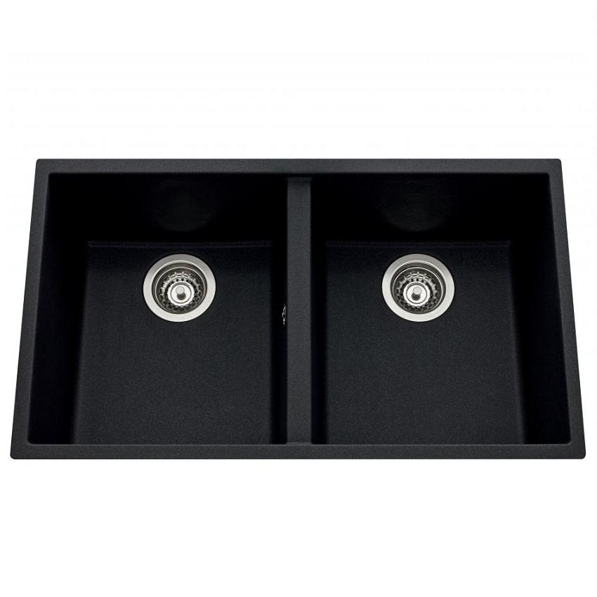 cuve sous plan quadrille 76x43 5 luisigranit noirmetal luisina r f evsp983118e. Black Bedroom Furniture Sets. Home Design Ideas