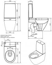 Cuvette Sanlife sortie verticale Blanc - SANINDUSA Réf. 136021004