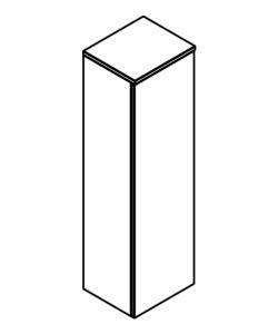 DEMI-COLONNE 1 porte - DECOTEC Réf. 1813761