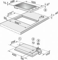 Domino HighLight 30cm 2 zones cadre Inox - MIELE Réf. CS1112E