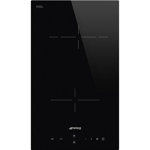 Domino vitrocéramique 30cm 2 foyers Noir - SMEG Réf. SE232TD
