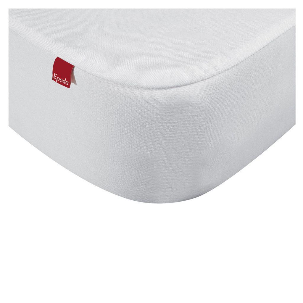 drap housse 2 en 1 avec prot ge matelas 140 x 190 200 cm blanc epeda r f jg1077114020000. Black Bedroom Furniture Sets. Home Design Ideas