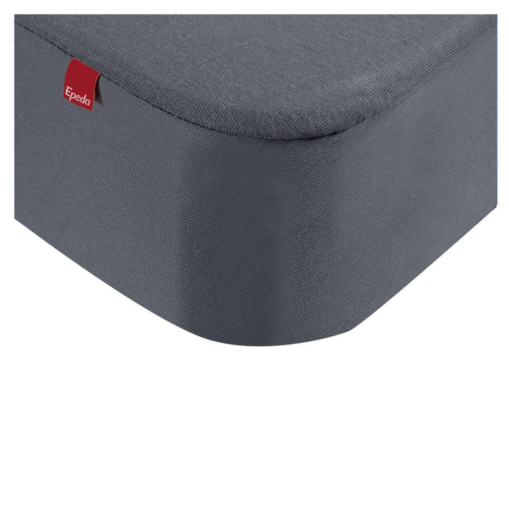 Drap housse 2 en 1 avec prot ge matelas 200 x 200 cm gris - Housse protection matelas 1 personne ...