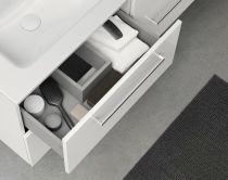Ensemble 120 meuble SAPHIR 4 tiroirs 45 NOYER SABLE + plan SLIM - ROYO Réf. C0070947
