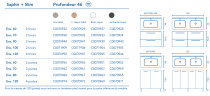 Ensemble 60 meuble SAPHIR 2 portes 44  BLANC + plan SLIM + pied - ROYO Réf. C0070951