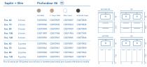 Ensemble 80 meuble SAPHIR 2 portes 44  BLANC + plan SLIM + pied - ROYO Réf. C0070963