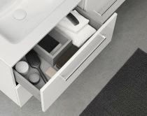 Ensemble 80 meuble SAPHIR 2 tiroirs 45 GRIS SABLE + plan SLIM - ROYO Réf. C0070944