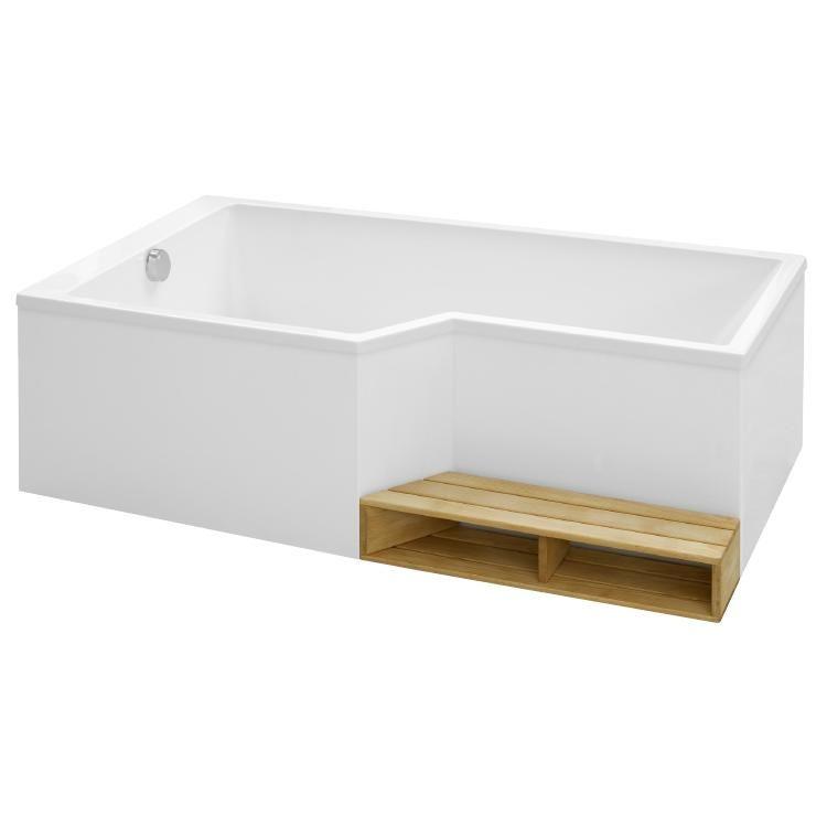 Ensemble baignoire bain douche neo 160 x 90 70 acrylique for Baignoire et douche ensemble