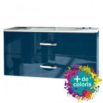 Ensemble Decotec meuble Bento 100cm 2 tiroirs + plan vasque céramique Luna