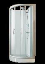 Espace Douche Quart De Rond Access Confort 91x91 Portes Coulissantes Fond Blanc Vitrage
