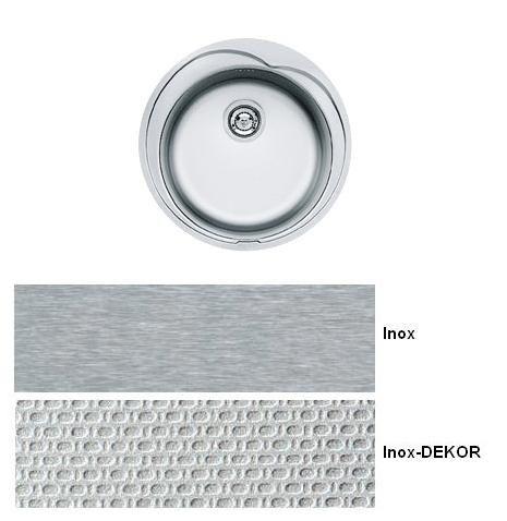 evier 1 cuve rotondo rol610 Ø 510 inox-dekor - franke réf. 080061